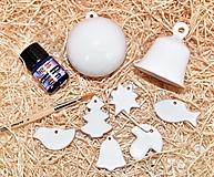 Dekorácie - Balíček na domáce maľovanie – Vianočná guľa, zvonček a ozdôbky - 12603892_