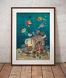 Grafika - Podvodný kaktusológ -plagát. - 12601177_