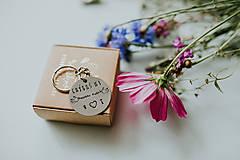 Kľúčenky - Prívesok na kľúče Chýbaš mi taakto veľmi - 12601223_