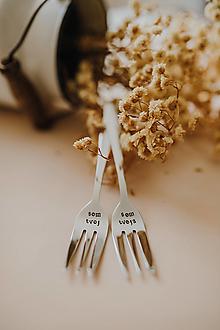 Pomôcky - Vidličky som tvoja-som tvoj❤ - 12601103_