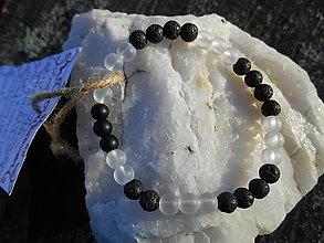 Náramky - láva-onyx-krištáľ-náramok - 12606555_