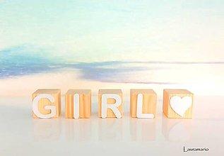 Hračky - Kocky drevené GIRL - 12604420_