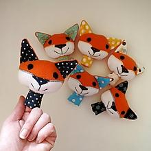 Hračky - Prstová maňuška zvieratko (líštička na výber) - 12600521_