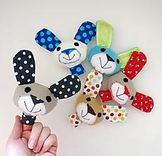 Hračky - Prstová maňuška zvieratko (zajko na výber) - 12606451_