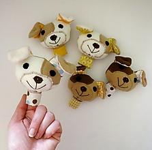 Hračky - Prstová maňuška zvieratko (psík na výber) - 12606563_