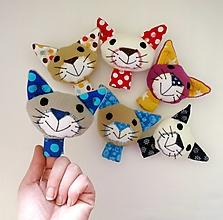 Hračky - Prstová maňuška zvieratko (mačička na výber) - 12606582_