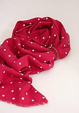 """Šatky - Veľká dámska ľanová šatka/pléd cyklámenovej farby """"Florencia"""" - 12605740_"""