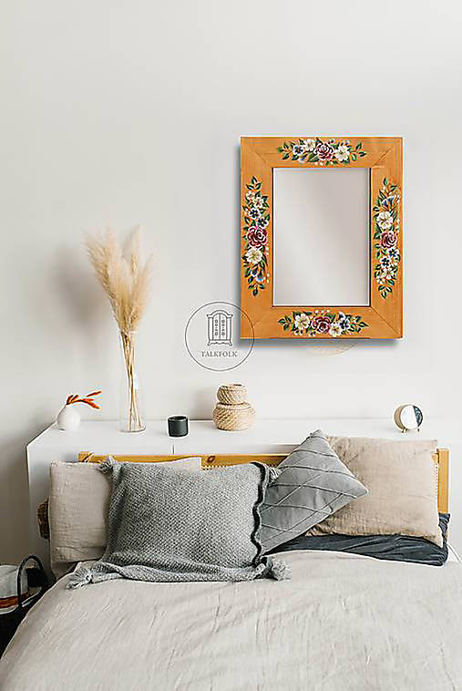Zrkadlo s kvetinovou maľbou (rôzne veľkosti)