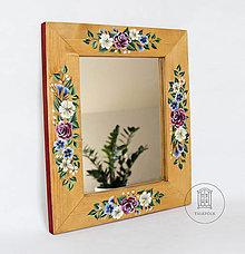 Zrkadlá - Zrkadlo s kvetinovou maľbou (rôzne veľkosti) - 12604562_