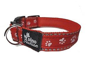 Pre zvieratká - Reflexný obojok Psie labky - 12602409_