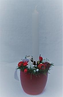 Svietidlá a sviečky - Svietnik 46 - vianočný - 12604495_