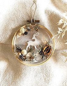Dekorácie - Vianočná ozdoba vyšívací kruh - 12604890_