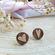 Náušnice - Náušnice srdiečko . chocolate - 12604292_