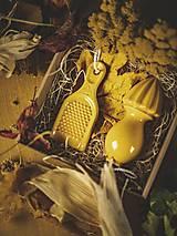 Pomôcky - Citrusovač a struhadlo na česnek v setu (Žltá) - 12603682_