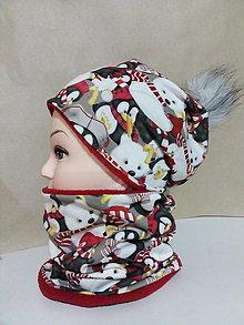 Detské čiapky - Zimný set - 12604862_