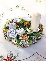 Dekorácie - Zimný veniec - medovníček - 12606041_
