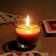 Svietidlá a sviečky - Sviečka z včelieho vosku v skle - 12605791_