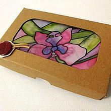 Šatky - Hodvábna šatka Orchidea (Hodvábna šatka Orchidea v darčekovej krabičke) - 12606636_