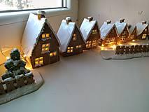 Dekorácie - keramika domčeky... (Domček velky) - 12602107_