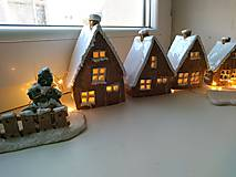 Dekorácie - keramika domčeky... (Domček stredny) - 12602108_