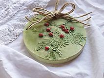 Obrázky - Sadrová vianočná dekorácia maľovaná - 12611665_