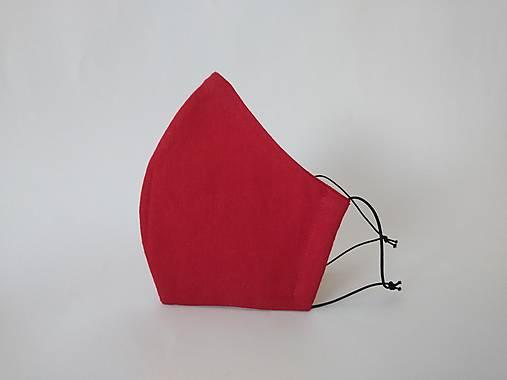 Dizajnové rúško tvarované bordové dvojvrstvové