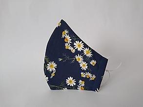 Rúška - Dizajnové rúško harmanček tvarované dvojvrstvové - 12608887_