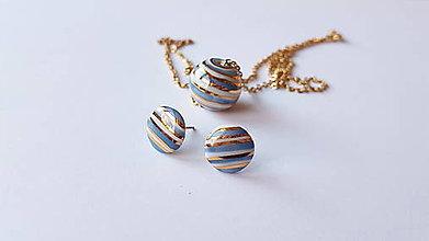 Sady šperkov - Porcelánová súprava šperkov  - 12611547_