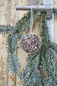 Dekorácie - Vianočné gule NATUR - 12606955_