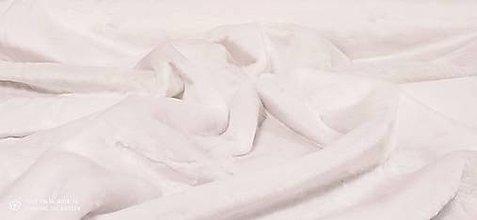 Textil - Kožušina poťahová -Biela - cena za 10 centimetrov - 12607517_