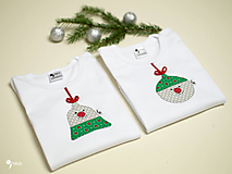 SET  pre bratčeka a sestričku (vianočná guľa a zvonček)