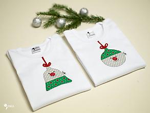 Detské oblečenie - SET  pre bratčeka a sestričku (vianočná guľa a zvonček) - 12611889_