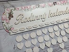 Dekorácie - Kalendár rodina - 12611026_