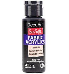 Farby-laky - Farby na textil SoSoft Black / Čierna 59 ml - 12608600_