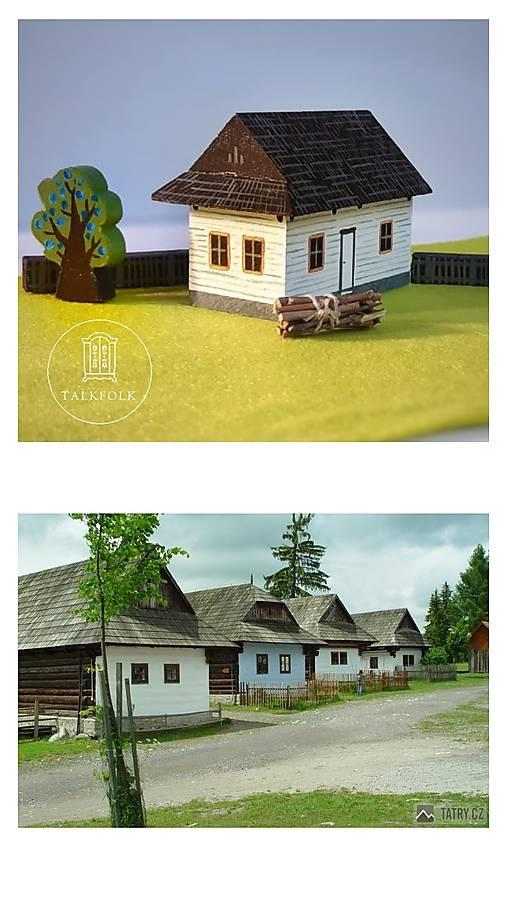 Miniatúrna drevenica z Vlkolínca (Pribylina)