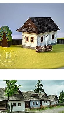 Hračky - Miniatúrna drevenica z Vlkolínca (Pribylina) - 12612493_