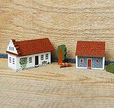 Dekorácie - Miniatúrny dvor zo Záhoria (Záhorie (Plavecký Peter)) - 12612510_