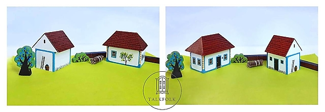 Dekorácie - Miniatúrny dvor zo Záhoria (Myjava) - 12612539_