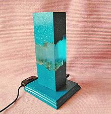Svietidlá a sviečky - Stolná lampa Smaragdová - 12609551_