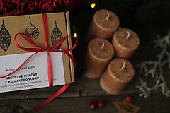 Svietidlá a sviečky - Mrazivé adventné sviečky  - 12613107_