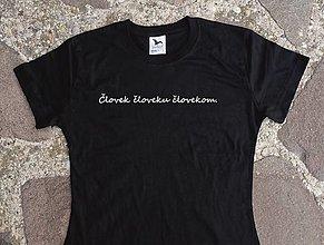 Tričká - tričko človek človeku - 12611064_