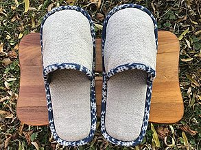 Obuv - Šedé papuče - 12609578_