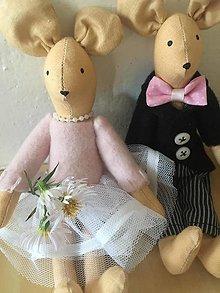 "Hračky - ..a bude svadba "" myšky v kufríku "" - 12609719_"