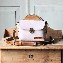 Kabelky - Kožená kabelka *Powder Pink* - 12608068_