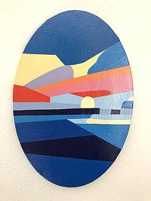 Obrazy - Abstrakcia - západ slnka - 12609194_
