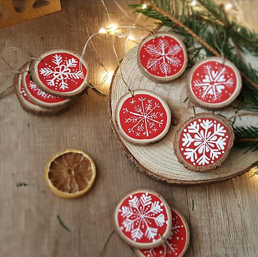 Snehové vločky- vianočná ozdoba