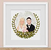 Obrázky - Rodinný portrét na želanie - PDF na stiahnutie (dve osoby) - 12606751_