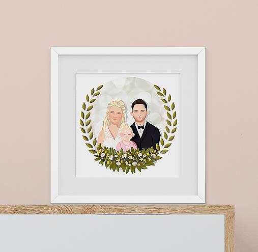 Rodinný portrét na želanie - PDF na stiahnutie (dve osoby)