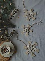 Dekorácie - Macramé vianočné ozdoby SET - 12611275_