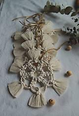 Dekorácie - Macramé vianočné ozdoby SET - 12611277_